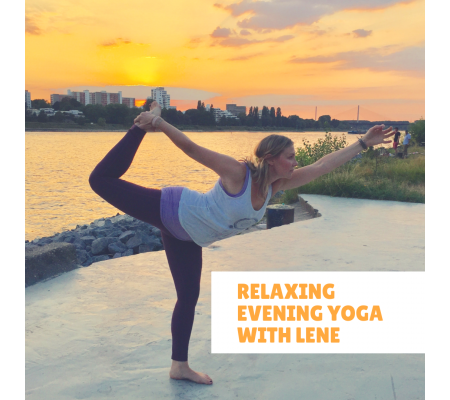 Relaxing evening yoga with Lene